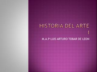 Historia del arte i