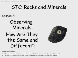 STC: Rocks and Minerals