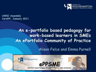 An e-portfolio based pedagogy for work-based learners in SMEs An ePortfolio Community of Practice