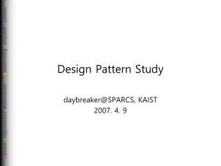 Design Pattern Study