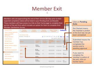 Member Exit