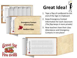 Emergency Contact Information Redbird Class