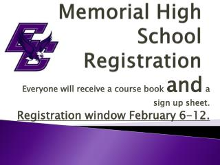 Memorial High School Registration