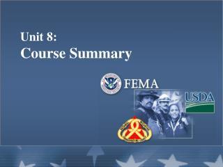 Unit 8:   Course Summary