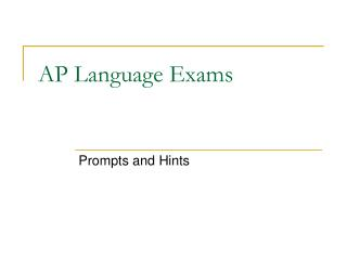 AP Language Exams