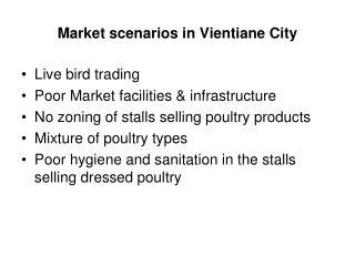 Market scenarios in Vientiane City