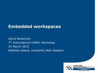 Embedded workspaces