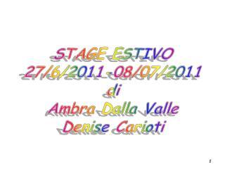 Introduzione allo Stage