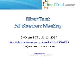 DirectTrust All Members Meeting