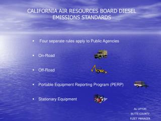 CALIFORNIA AIR RESOURCES BOARD DIESEL EMISSIONS STANDARDS