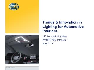 Trends & Innovation in Lighting for Automotive Interiors