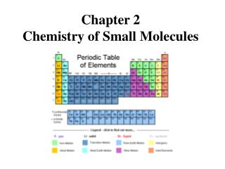 Chapter 2 Chemistry of Small Molecules