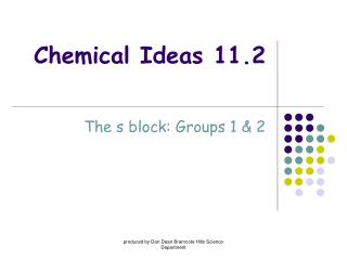 Chemical Ideas 11.2