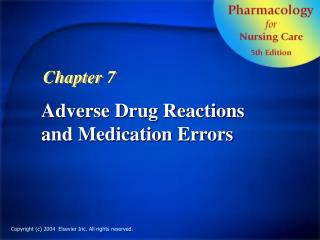 Adverse Drug Reactions and Medication Errors