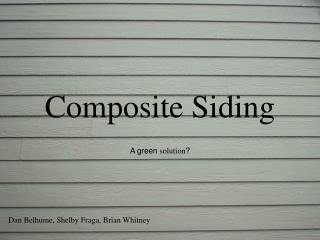 Composite Siding