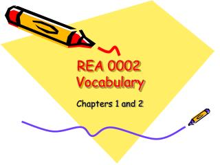 REA 0002	 Vocabulary