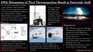 1952: Detonation of First Thermonuclear Bomb at Eniwetok Atoll