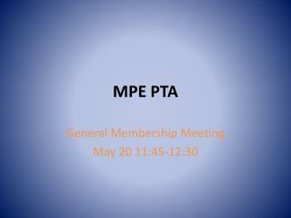 MPE PTA