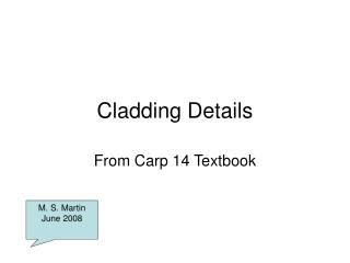 Cladding Details