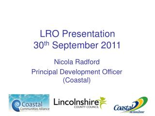 LRO Presentation 30 th  September 2011