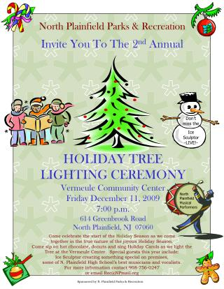 North Plainfield Parks & Recreation Invite You To The 2 nd  Annual