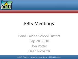 EBIS Meetings