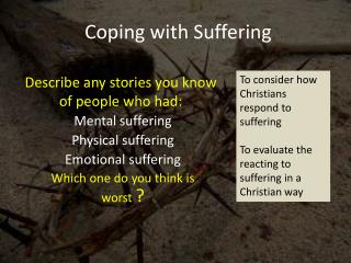 Coping with Suffering