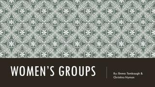 Women�s Groups