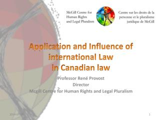 Application and Influence of international Law in Canadian law