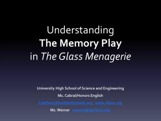 Understanding The Memory Play in  The Glass Menagerie