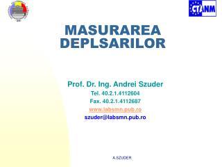 MASURAREA DEPLSARILOR
