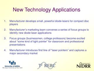 New Technology Applications
