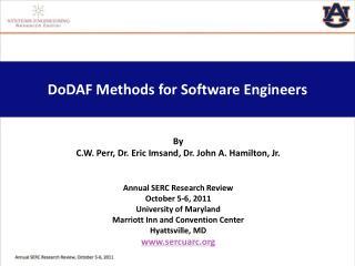 DoDAF  Methods for Software Engineers