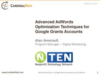 Advanced  AdWords  Optimization Techniques for Google Grants Accounts