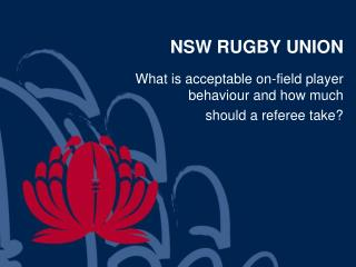 NSW RUGBY UNION
