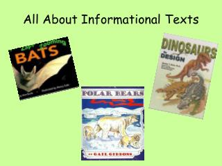All About Informational Texts