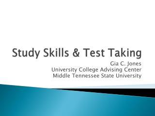 Study Skills & Test Taking