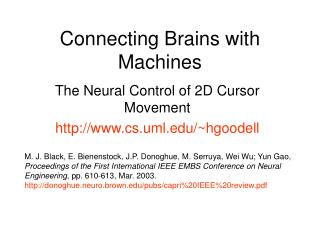 Connecting Brains with Machines