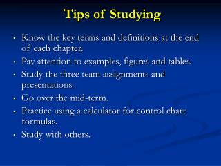 Tips of Studying