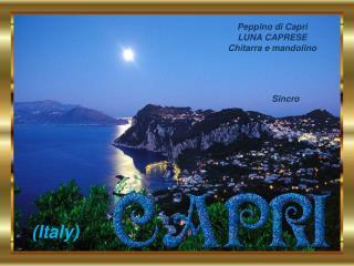 Peppino di Capri                    LUNA CAPRESE                        Chitarra e mandolino