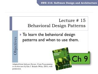 Lecture # 15 Behavioral Design Patterns