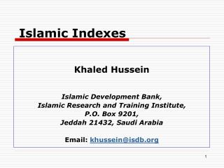 Islamic Indexes