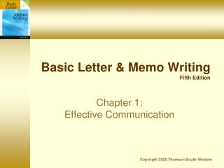 Basic Letter & Memo Writing Fifth Edition