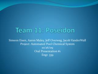 Team 11: Poseidon