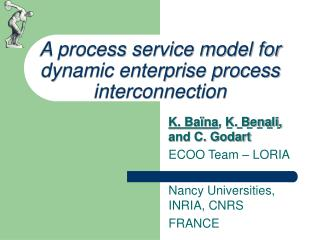 A process service model for  dynamic enterprise process interconnection