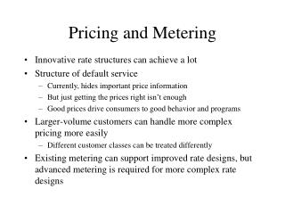 Pricing and Metering