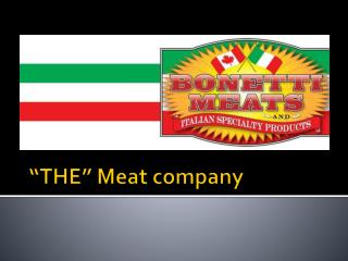"""THE"" Meat company"