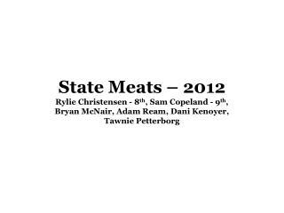 WA State Meats 2012A