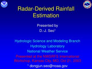 Radar-Derived Rainfall Estimation