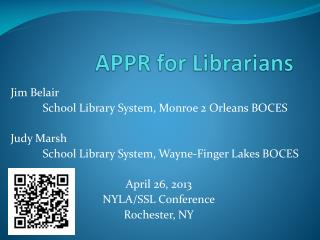 APPR for Librarians